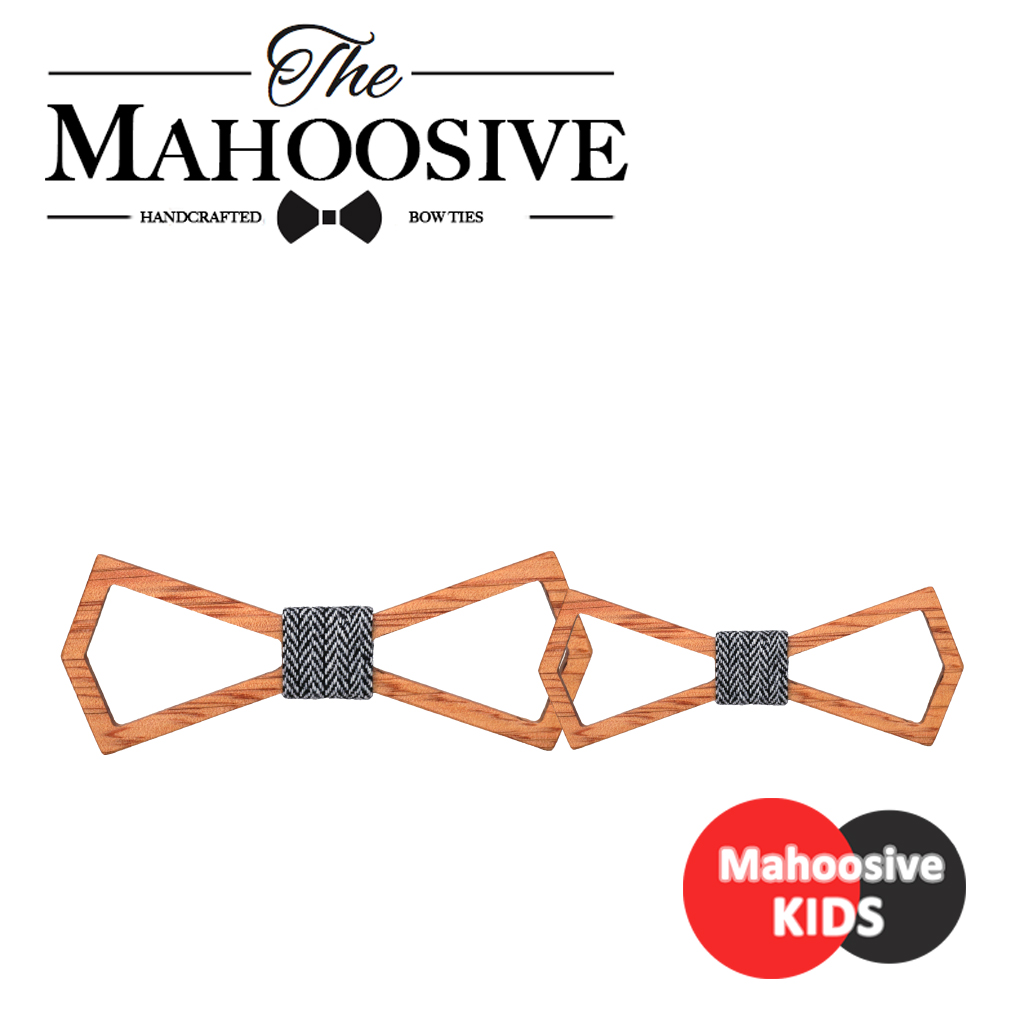 Mahoosive Mens Children Kids Bow Tie Wood Wooden Bow Knot Men Gravatas Corbatas Wedding Bow Tie Combo