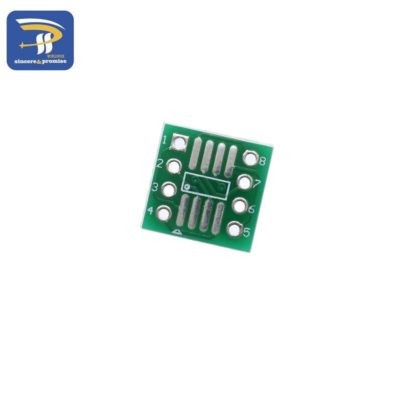 Переходник SOP8/SOIC8 на DIP8, 10 шт., с поворотом so8/tssop8/soic8/sop8 на DIP8 без pin