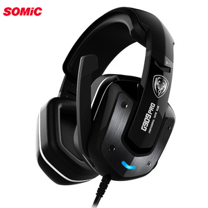 Image 1 - Somic auriculares G909PRO para videojuegos, dispositivo de audio Virtual 7,1 con vibración, auriculares para ordenador portátil, USB, con micrófono, estéreo de graves para ordenador
