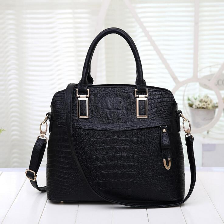 Ms package the new European and American female bag Crocodile grain one shoulder bag lady handbag business