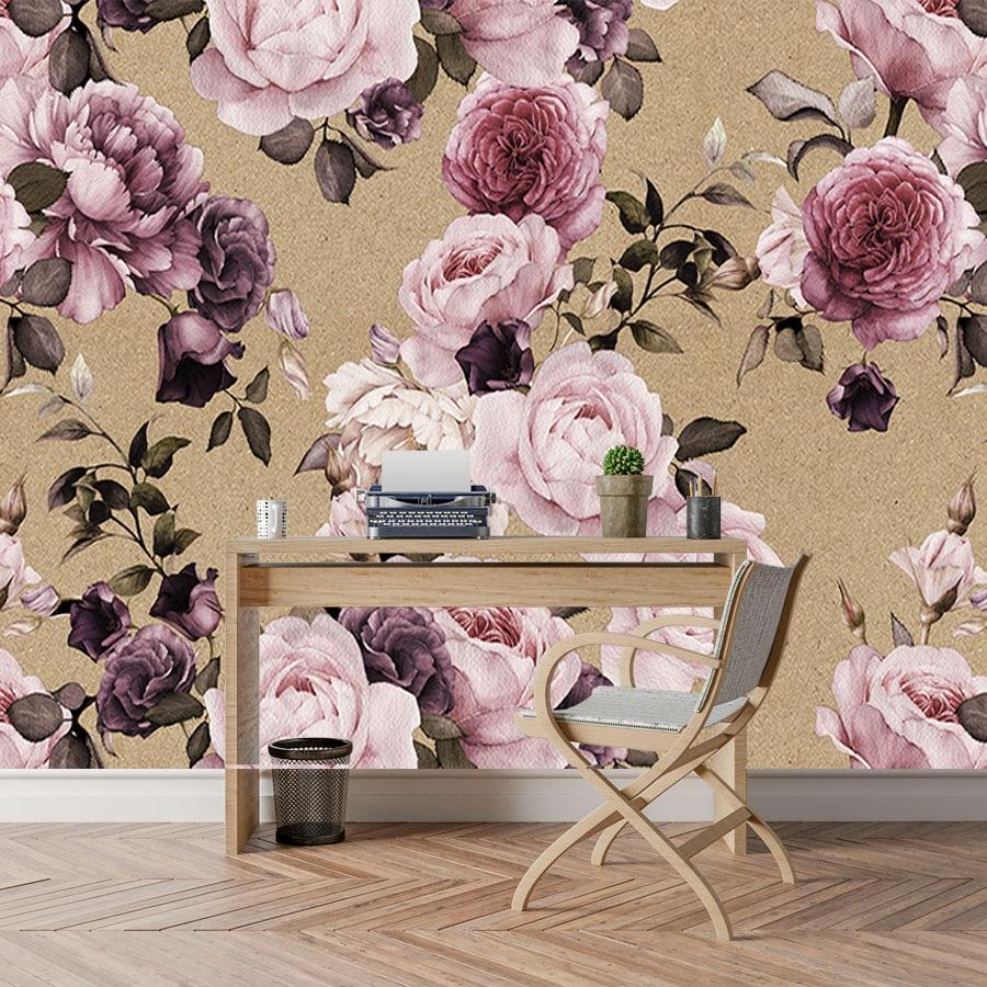 Shinehome Large Custom 3d Photo Wallpaper Rose Peony Tree Flower