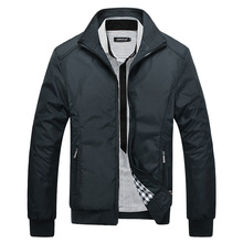 Лидер продаж, мужские одноцветные Классические Куртки-бомберы больших размеров, Мужская демисезонная верхняя одежда, мужская ветровка, куртки больших размеров 5XL, пальто