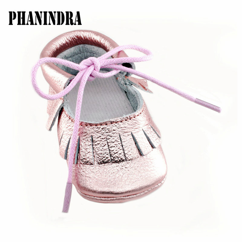 2018 New Baby Girl Shoes leather Soft Bottom Fashion Tassels Moccasin Newborn lace-up infant First Walkers(0-24M) attipas