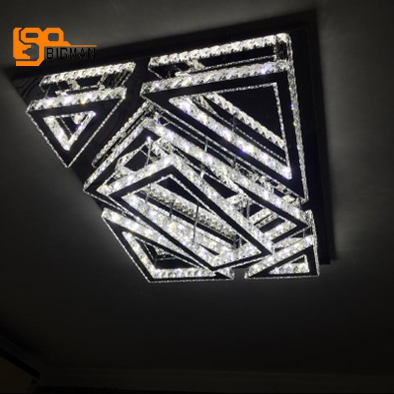 New design modern led chandelier crystal lamp ceiling fixtures AC110V 220V living room lighting high quality