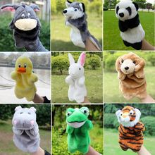 Hand Puppets Plush Puppets Rabit Panda Cow Dog Frog Tiger Doll Fantoche Parent-child Early Children Educational Toys Brinquedo