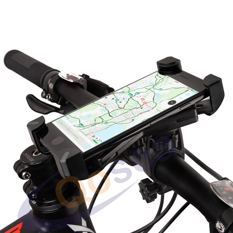 Qosea Universal Bike Phone GPS Mount Bicycle Holder 360 Degree Rotate Phone Stand Support For iPhone Android 3.5-7.0 Inch Phone