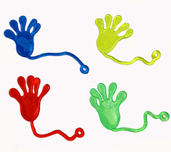 10Pcs Elastically Stretchable Sticky Palm Queen Palm Climbing Tricky Entire Toy Hands