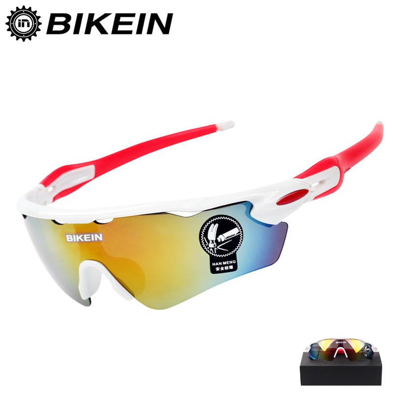 BIKEIN Windproof Cycling Bike Sunglasses UV-400 Goggle Outdoor Sports Sun Glasses MTB Bike Eyewear PC Goggles Bicycle Accessory