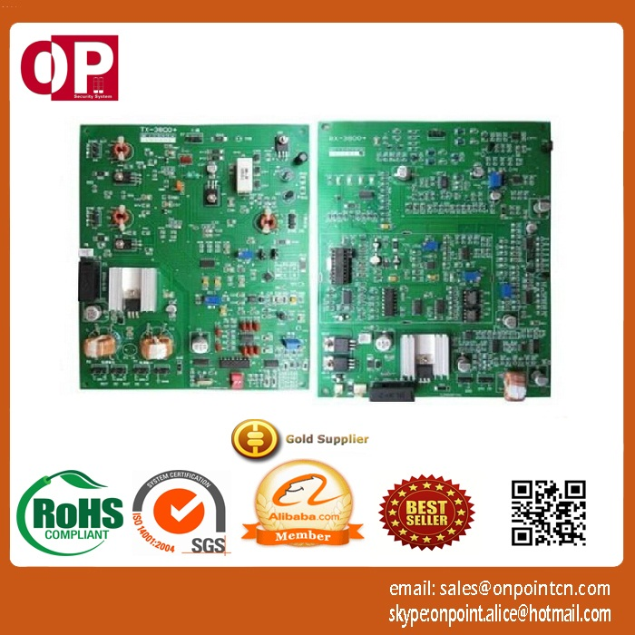 placa eletronica dupla rx tx eas 8 2 mhz rf da sensibilidade alta com 2 0m