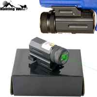 Tactical Compact Pistol Green Dot Laser Sight Collimator with 20mm Mount for Glock 17 19 22 S&W Hunting Airsoft Rifle Accessory