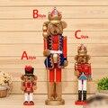 HT047 Бесплатная доставка игрушка 23 см 38 см 60 см Милый Медведь Король Щелкунчик Кукольный Супер Мэн День святого валентина рождественский подарок