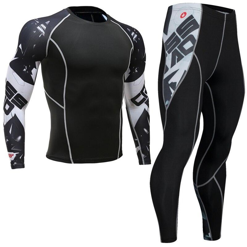 Qualidade superior nova roupa interior térmica masculina conjuntos de compressão velo suor de secagem rápida roupa interior térmica masculina