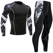 Top quality new thermal underwear font b men s b font underwear sets compression fleece sweat