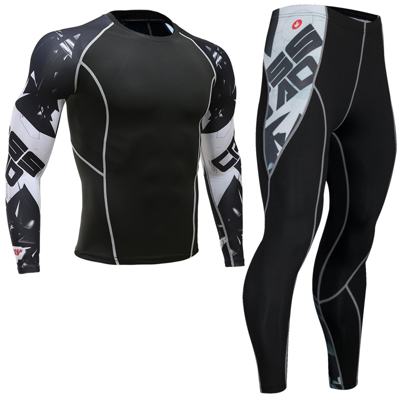 Top Quality New Thermal Underwear Men's Underwear Sets Compression Fleece Sweat Quick-drying Thermal Underwear Men's Clothing