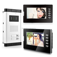 7 Inch LCD Apartments Color Video Door Phone Doorbell House Security System 700VL Camera