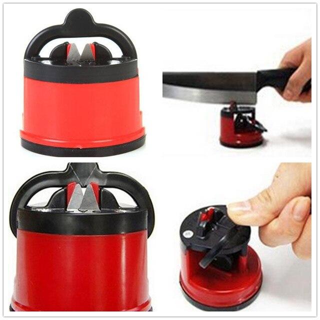 Seguridad de la cocina Cuchillo Afilador Con Ventosa Seguro Hojas de ...