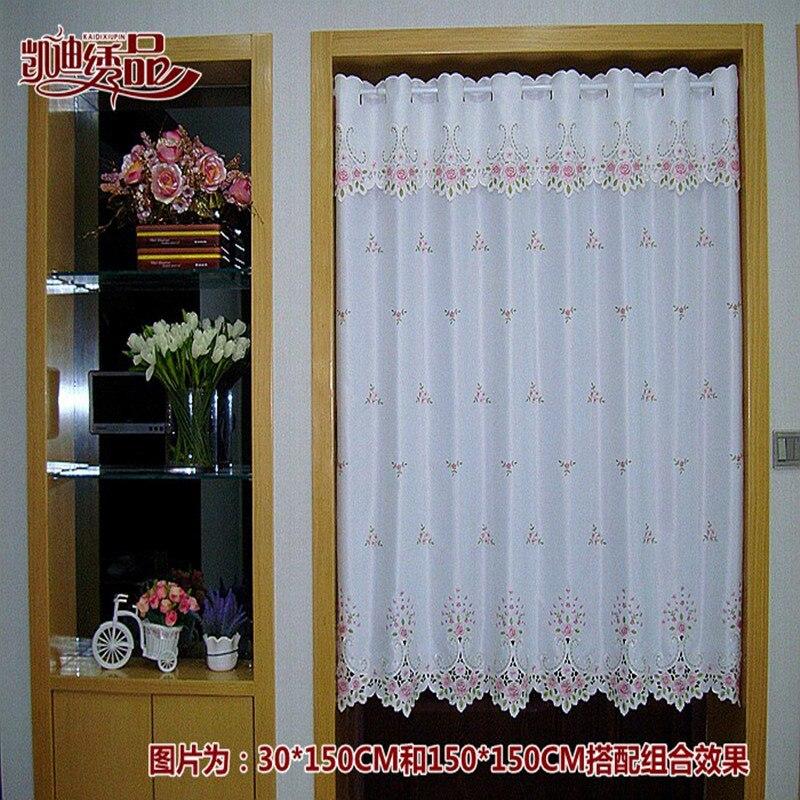 Campo de medio tubo de luz sombreado cortina de café cortina de ventana cenefa bordada desgaste.jpg