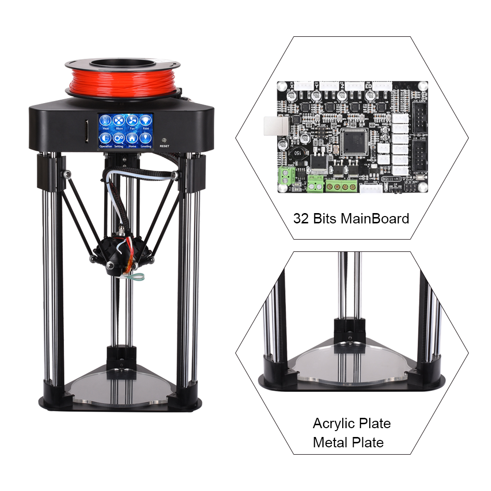 BIQU Magician 3D Printer Mini kossel delta printer High precision Fully Assembly 2.8 inch TFT Touch Screen with PLA filament pre sale biqu magician full assembly desktop 3d printer 2 8 inch touch screen titan extruder 32 bits control board kossel delta