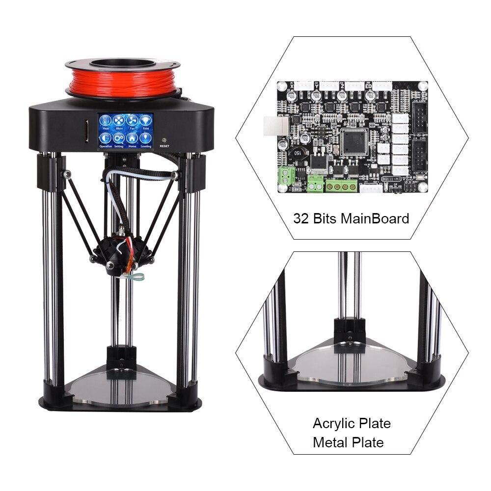 BIQU Magicien 3D Imprimante Mini kossel delta imprimante De Haute précision Entièrement Assemblée 2.8 pouce TFT Tactile Écran avec PLA filament