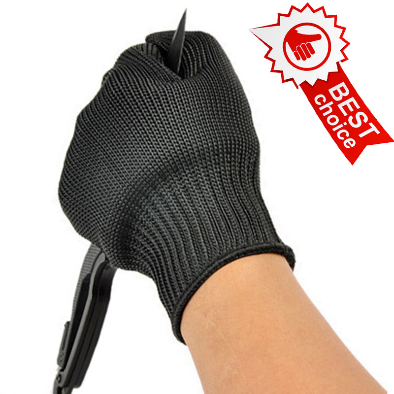 1 Pair Proof Protect Stainless Steel Wire Safety Gloves Cut Metal Mesh Butcher Anti-cutting breathable Work Gloves 1pcs safety gloves cut proof stab resistant stainless steel wire metal mesh butcher anti knife