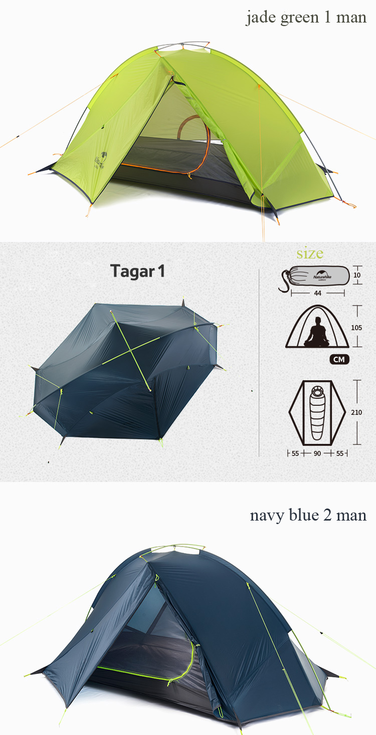 tenda 20d tecido ultraleve NH17T140-J