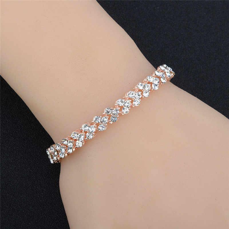 אופנה 925 כסף סטרלינג צמידי נשים רומי קריסטל צמידי יום הולדת חג האהבה מתנות אביזרי תכשיטים
