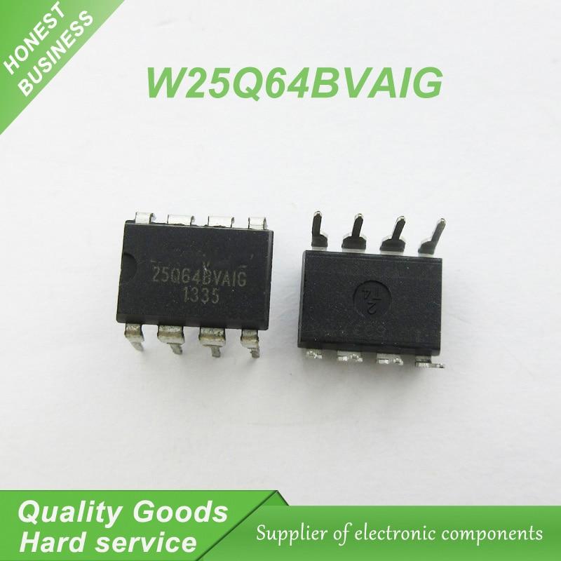 US $7 65 10% OFF|10pcs free shipping W25Q64BVAIG 25Q64BVAIG 25Q64 W25Q64  DIP 8 motherboard BIOS chip 8MB flash memory new original-in Integrated