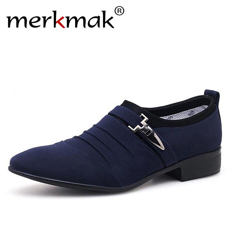 Merkmak Plus Größe 38-48 Männer Kleid Schuhe Klassische Business Büro Oxford Schuhe Für Männer 2018 Neue Casual Britischen stil Mann Wohnungen