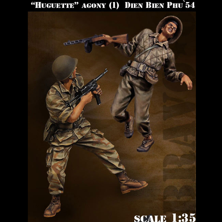 1/35 scale model kit vietnam war soldiers (2pcs/lot) unpainted and unassembled Free shipping 136