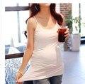Хлопок беременных женщин four seasons чистый цвет майки натяжные топы тройники белый цвет беременности материнства хлопок футболки топы
