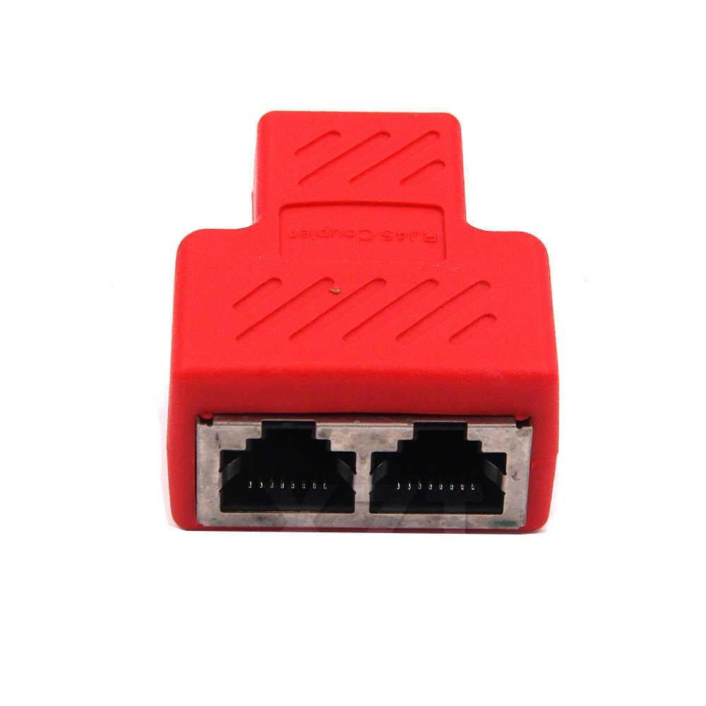 צבעוני נחושת Core 1 כדי 2 RJ45 מחבר כבל רשת ספליטר Extender Plug מתאם עבור מחשב נייד