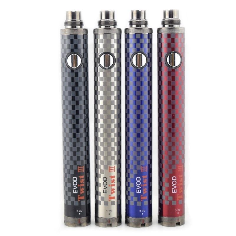 5pc EVOD Twist III Battery UNDER TWO Torsion 3 Battery Voltage Adjustable 3.3V-4.8V Variable Voltage for E Cigarette Vaporizer