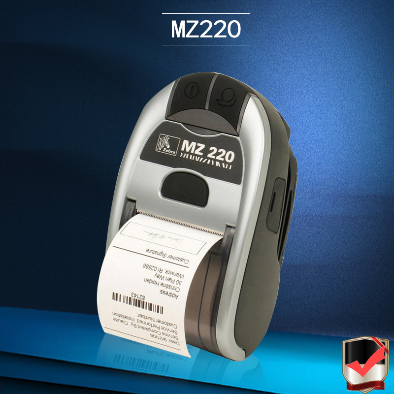 For Zebra MZ220 Wireless Bluetooth Mobile Thermal Printer For 50mm Ticket Or Label Portable Printer 203 dpi seebz 2set original printer for zebra mz220 wireless bluetooth mobile thermal printer for 50mm ticket or label portable printer