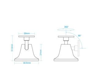 Image 5 - Original Aqara human body sensor Base ,work with human body sensor  motion sensor For smart home