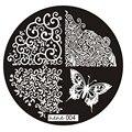 ColorWomen 1 шт. Бабочки Ногтей Штамповки Печатной формы Изображения Штампов Плиты Маникюр Ногтей 161104 Drop Доставка