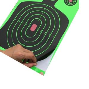 """Image 5 - 25 stücke Ziel Schießen 12 """"x 18"""" Silhouette Splatter Reactiveb Ziel Papier Ziele Fluoreszierende Grün Für Pistole oder bogenschießen"""