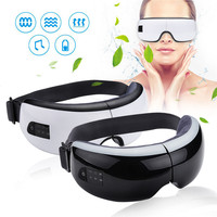 Electric Eyes Massager Bluetooth Wireless Air Pressure Magnetic Acupoint Massage Heating Relax Therapy Eye Care Device With Mp3