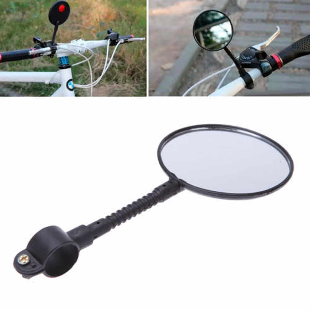 Universal Bike Bicycle Cycling MTB Mirror Handlebar Wide Angle Rear View Rearview Bike Accessories Bike Bicycle Handlebar 4.0#