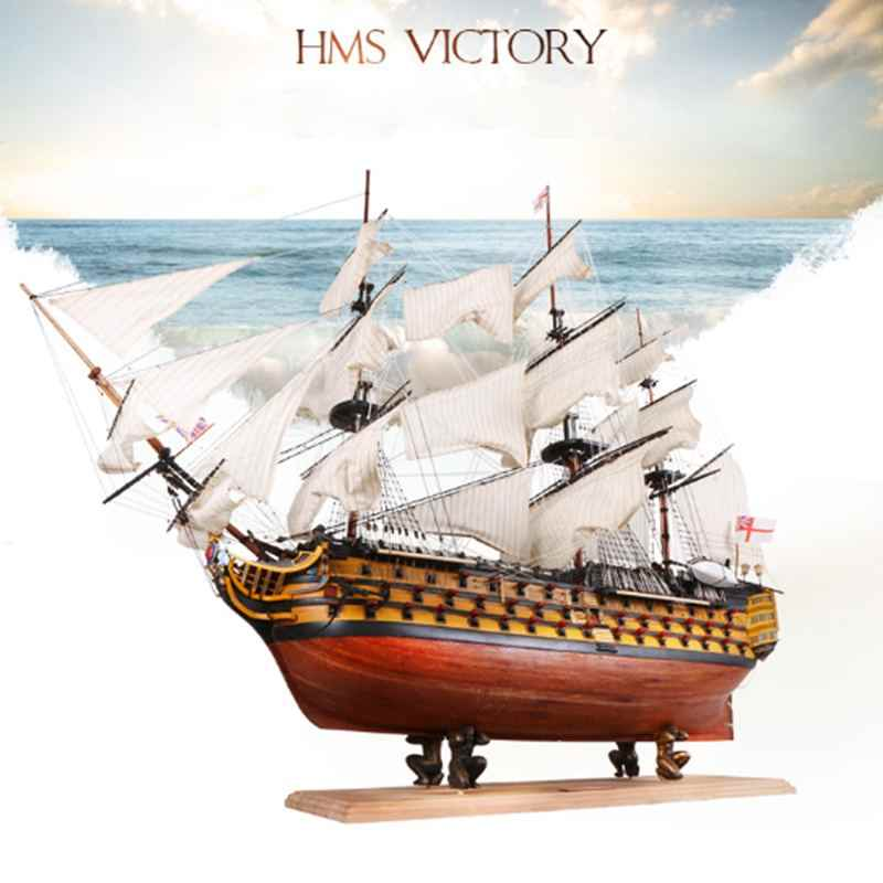 "DIY Handmade Assembly Ship 21"" Wooden Sailing Boat Model Kit Ship Handmade Assembly Decoration Gift For Children Boy"