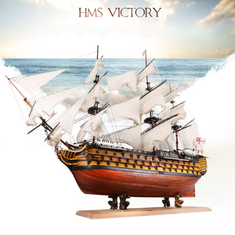 DIY Handmade Assembly Ship 21 Wooden Sailing Boat Model Kit Ship Handmade Assembly Decoration Gift For Children Boy