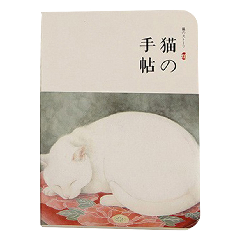 все цены на New Blank Vintage Sketchbook Diary Drawing 80 sheet Cute Cat Notebook paper Sketch Book Office School Supplies GiftHibiscus show онлайн