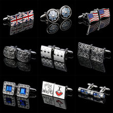 Memolissa Classic Men's Cufflinks Multi-style Flag/Ladybug/Propeller/Hourglass/Knot Design I Love My Wife Wedding Male Cufflink(China)