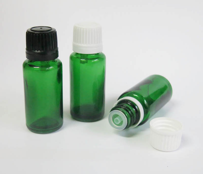 Wholesale 100pcs Glass Empty 15 Ml Small Green Cosmetic