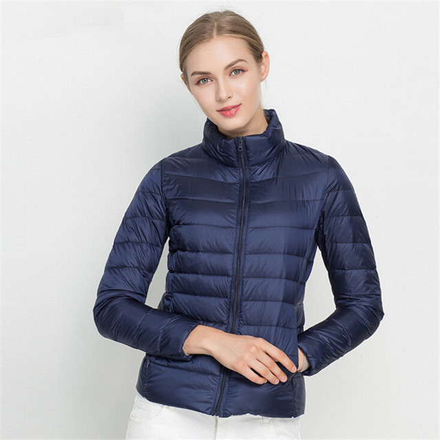 Johnature 2018 New Women Coat Autumn Winter 90% White Duck Down Jacket 16 Colors Warm Slim Zipper Fashion Light Down Coat S-3XL