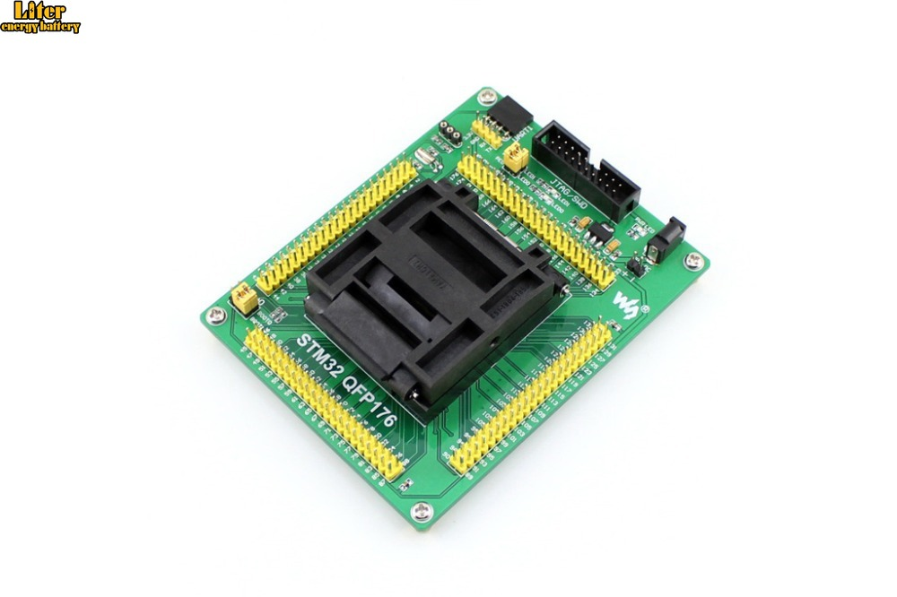 STM32 Socket STM32-QFP176 QFP176 LQFP176 0.5mm Pitch Yamaichi IC51-1764-1505-5 Designed For STM32 MCU Supports JTAG SWD USART