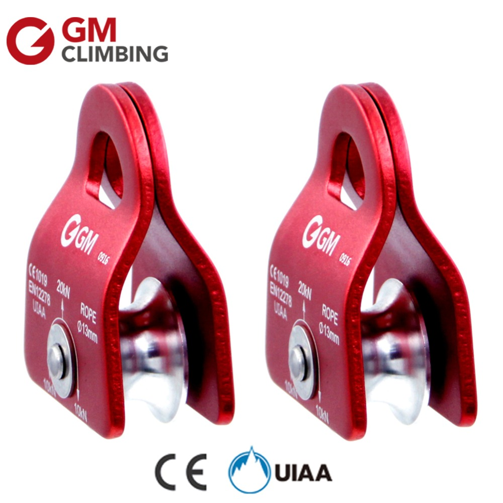 GM Climbing Rope Pulley Climbing Mountaineering Equipment CE / UIAA 20kN Fix 1/2 inch Rope Survival Caving Rescue Rock Climbing