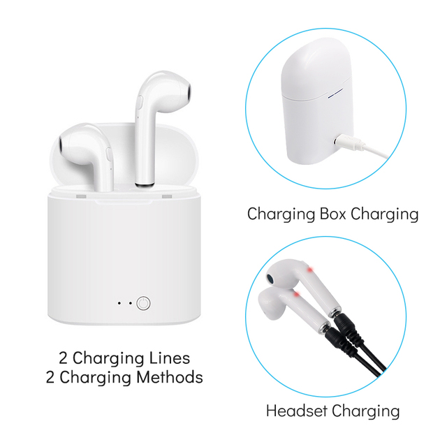 Wireless Headphones Bluetooth Noise Cancelling Mini Bluetooth Earphones Waterproof Sports with Mic for iPhone Samsung Xiaomi