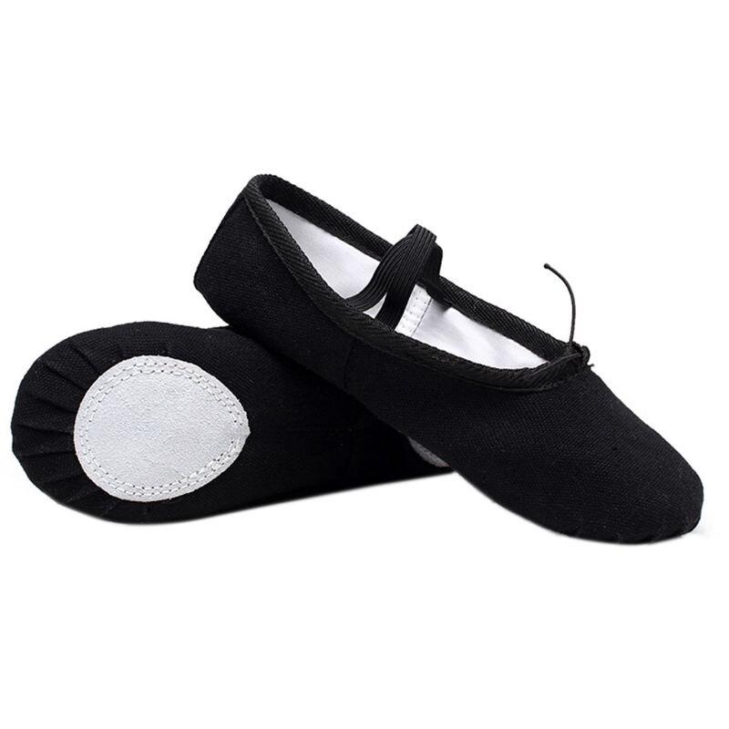 Ballerines chaussons rouge toile enfants tailles adultes danse gymnastique chaussures nouveau