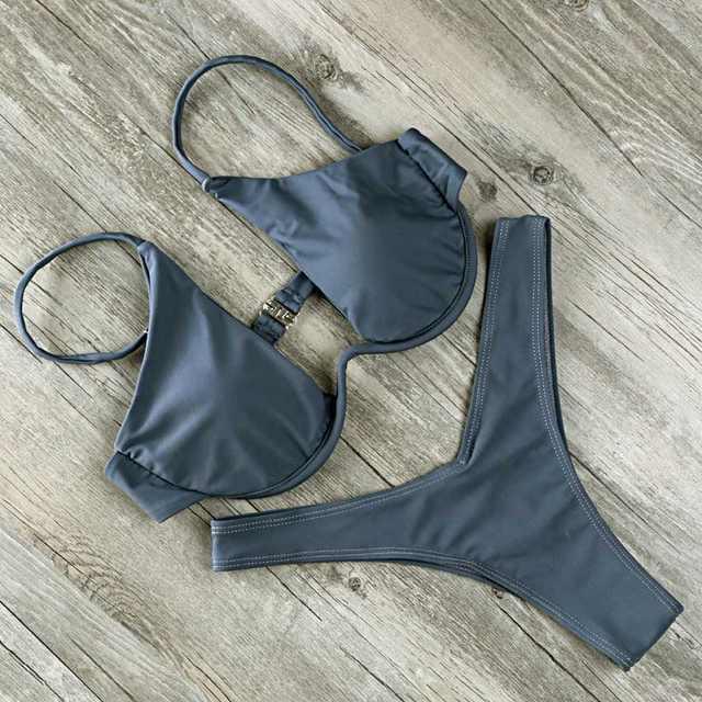b0117e74b406 2018 Extrema Sexy Micro Biquíni Peito Underwire Mulheres Mini Biquini Fio  Dental Maiô Bandagem Swimwear Brasileiro Empurrar Para Cima Maiô em  Conjunto ...