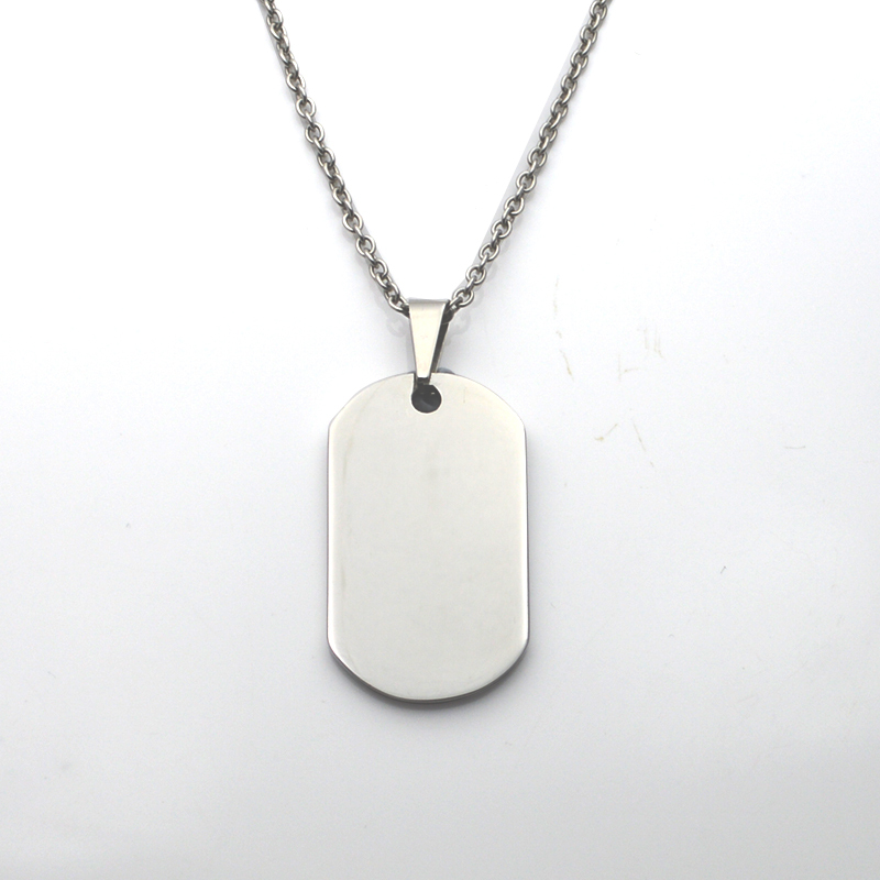 New Stainless Steel Zodiac Dog Tag Pendant Men S Women S: Laser Your Logo Dog Tag High Polish 316L Stainless Steel